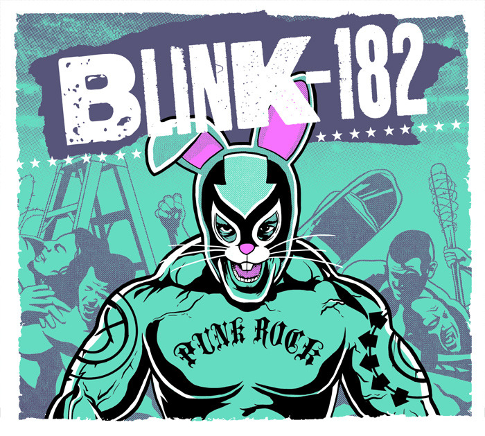 New limited edition Blink-182 poster available at my print store. Only 100 color variants of this poster were made, each is signed and numbered by me.