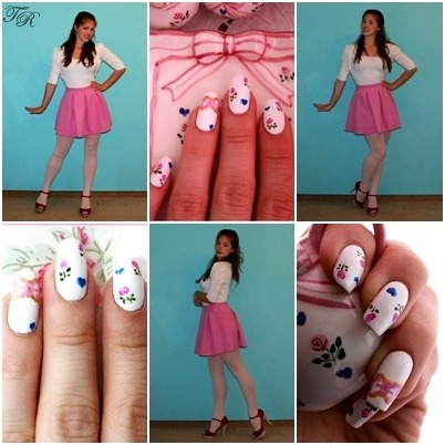 nail-art that fits to my outfit :)