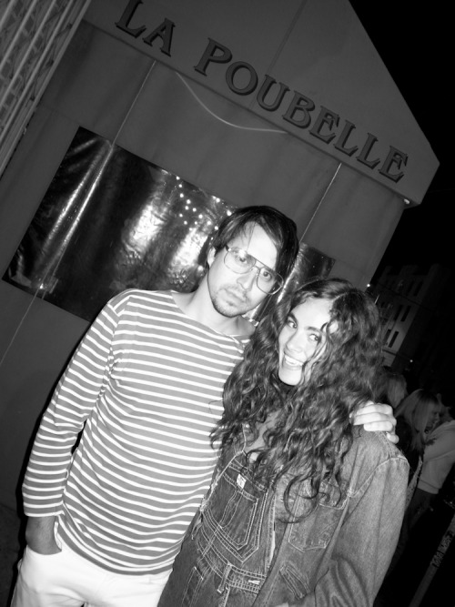 Last night I dined with Henrik Purienne at La Poubelle in Hollywood consuming the petit fillet and Bordeaux. We networked the entire meal in French and afterwards, with our  bevy of models we stepped out to the sidewalk where I made this photograph.  The summer of 2012 has begun! Photo by Brad Elterman