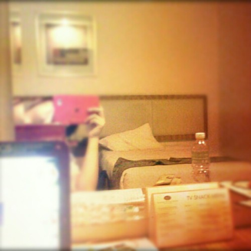 Empty bed is calling me. But work needs me.. (Taken with Instagram)
