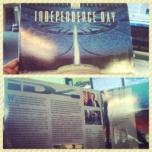 Independence Day…on laser disc. AWESOME (Taken with Instagram)