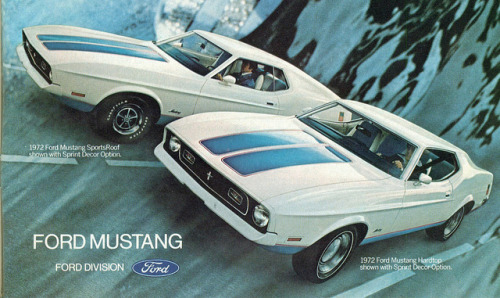 1972 Ford Mustang Hardtop and SportsRoof with Sprint Decor Option   by coconv on Flickr.1972 Ford Mustang Hardtop and SportsRoof with Sprint Decor Option