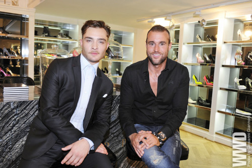 Ed Westwick and Philippe Plein