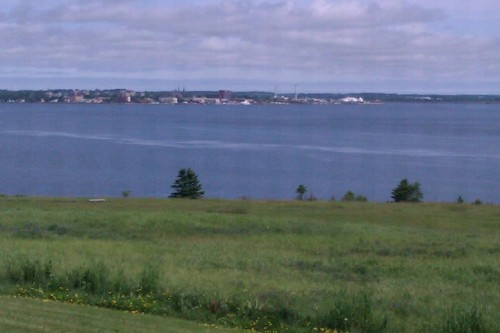 View of Charlottetown from across the Charlottetown Harbour, in Port-la-Joye