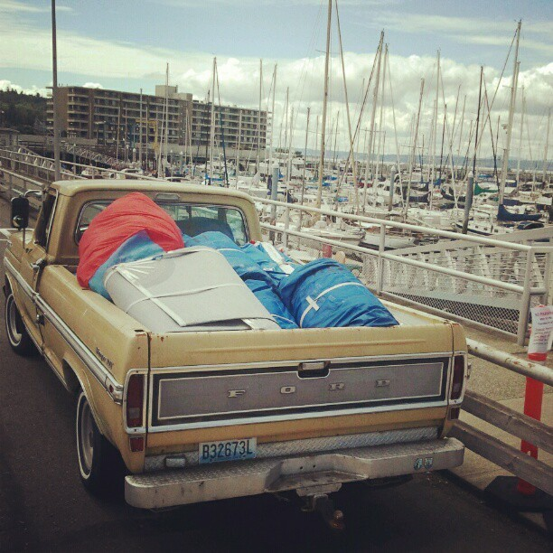 Expensive load in the back of Ol Yeller! (Taken with Instagram)