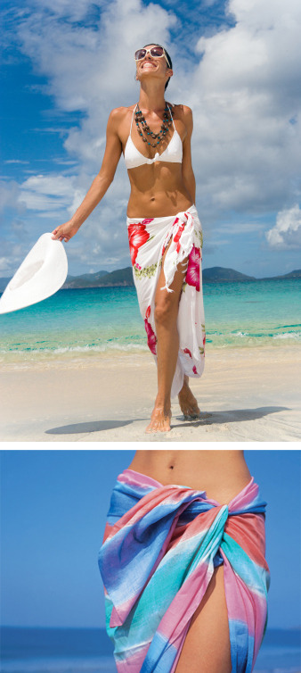 Sarong = So right! It's insta-chic on the beach.