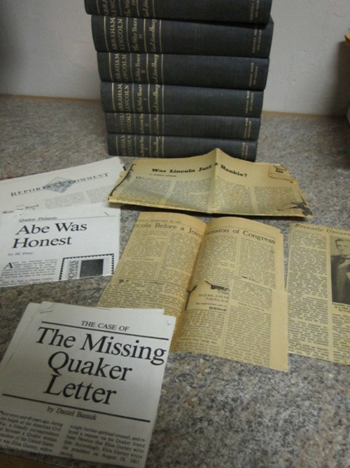 Newspaper and magazine clippings found in a Lincoln set. (Sorry, this set already sold!) Some were dated from the '60s and '70s.
