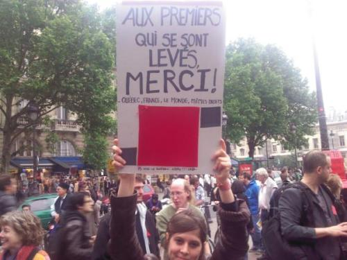 citoyenrebelle:  Meanwhile in France…. Read the small text hee~  I second this sentiment! (Couldn't read the small text though, vive la <something> libre…?)