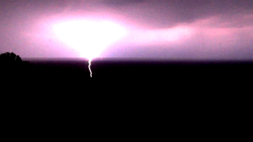 Power, Unleashed.  Photo: Last night's storm over Chautauqua Lake. 6/24/12. Karen Glosser.