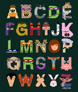 Ninja Turtle ABCs! reblogged from phosphorus
