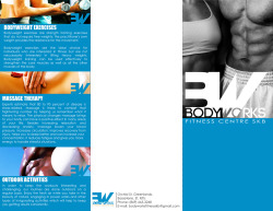 BodyWorks is a fitness centre owned by my parents. I did they logo for them and the brochure thus far. https://www.facebook.com/BodyWorks.SKB