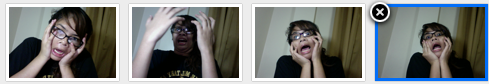 A screenshot of my recent webcam escapades.