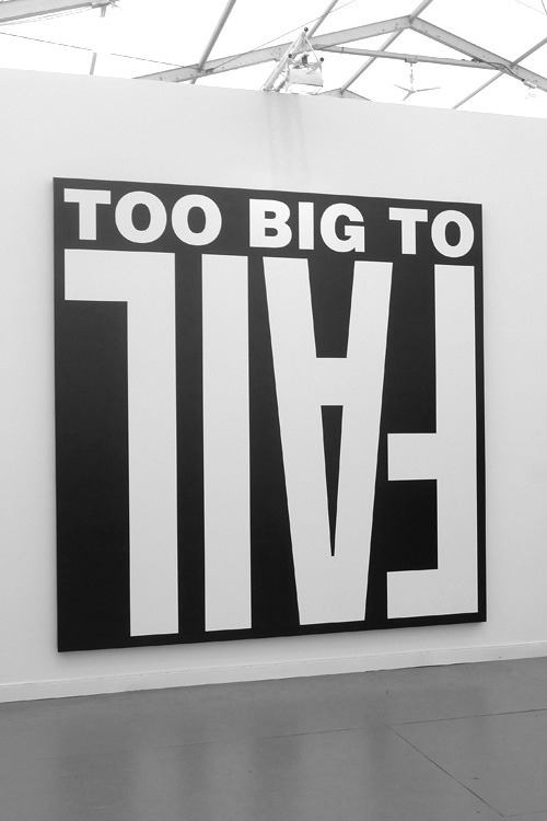 hazor:  Barbara Kruger, bigger than ever, at the recent Frieze Art Fair in New York.