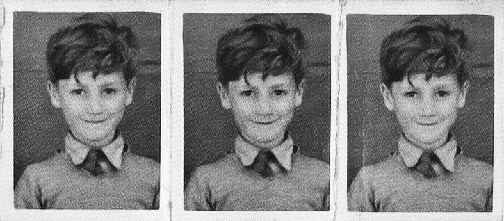 sallysdraper:  Polyphoto strip of John Lennon, aged five, looking a very sweet and innocent little boy, as his aunt Mimi always preferred to remember him.