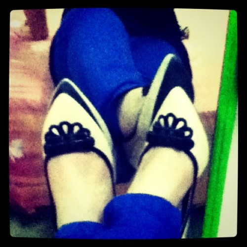 I love these shoes  #fashion #photography #instagram #blue #shoes #cobaltblue #jeans #heels (Taken with Instagram)