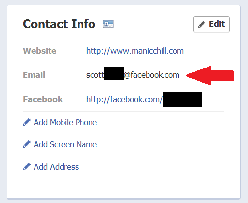 Check your e-mail: Facebook may have changed it without asking You might want to check your Timeline, and make sure that your listed email address(s) is the one you actually use. Without warning, or apparent reason outside of possibly trying to force Facebook e-mail adoption, the social networking giant altered many users' profiles to display the Facebook e-mail address they've never used, which redirect to a user's inbox and chat functionality. The company has not released any information on the change, and has yet to acknowledge what happened. Either way, now might be a good time to review the information you have posted, particularly if you run a business or want to ensure your privacy. source Follow ShortFormBlog: Tumblr, Twitter, Facebook