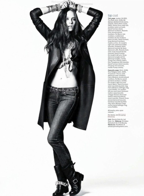 Marie Claire US July 2012 Title : Denim & Diamonds Photography : Tony Kim Model : Vanessa Hegelmaier