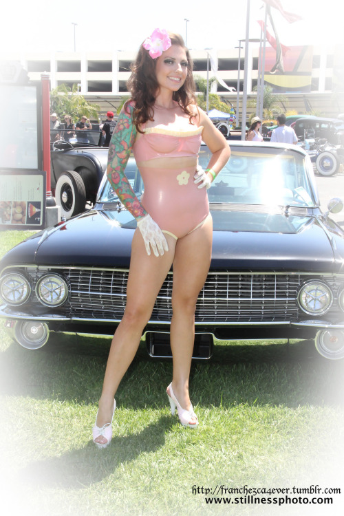 Shot from Ink-n-Iron 2012 Model: Mizz Franchezca Make-up by: Christina Evigan Hello Kitty hair flower by: Christina's Creations Latex by: Bella Black  Photographer: Bill Chapman