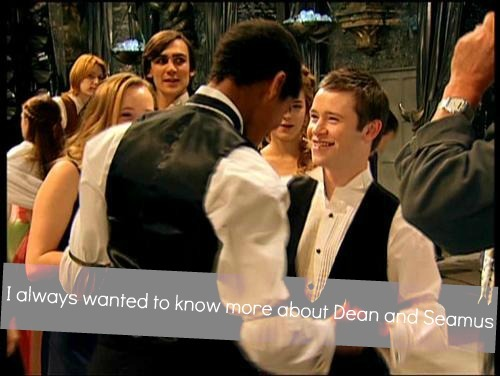 harrypotterconfessions:  I always wanted to know more about Dean and Seamus.