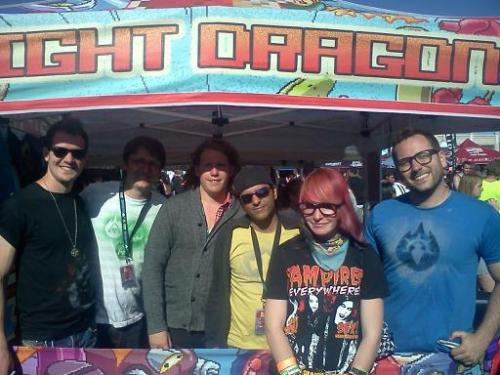I got to Meet my Idols <3 I fight Dragons… My band Strives to be like them <3
