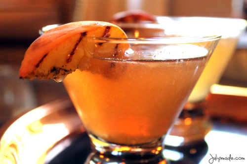 Grilled Peach Ginger Old Fashioned via Julip Made