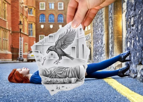 Take that, Instagram: In a series called Pencil Vs. Camera, Artist Ben Heine seamlessly combines sketches and photography to create scenes of cool donkeys, children playing, cityscapes—what have you. Read more » Image: Ben Heine © 2012