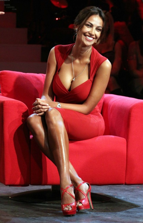 So red.Madalina Ghenea.