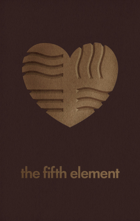 The Fifth Element minimal poster on Minimal Movie Posters