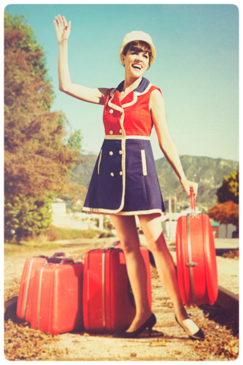 Lynda Kay and Vintage Luggages