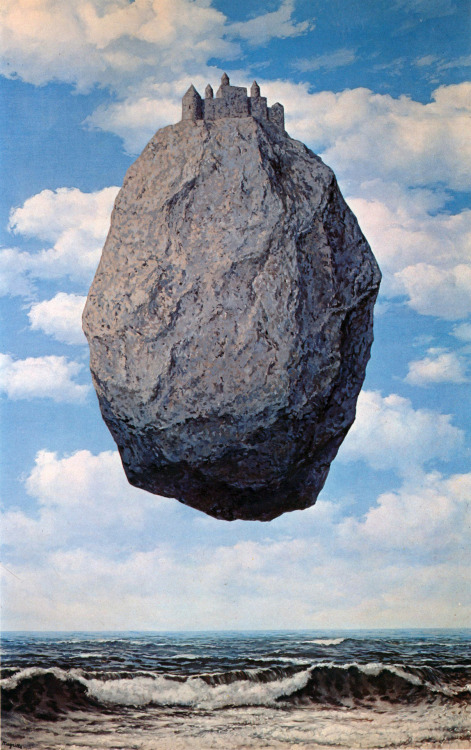 sandman-kk:  René Magritte, The Castle in the Pyrenees, 1959