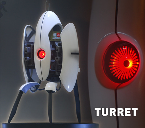 "16"" Portal 2 Turret Statue Now Up For Sale - ONLY 750 PIECES! Gaming Heads has launched the sales for their Portal 2 turret statues — and the exclusive version has already SOLD OUT! The original, non-exclusive is still available and is priced at $299.99. If you want one, you better hurry!"