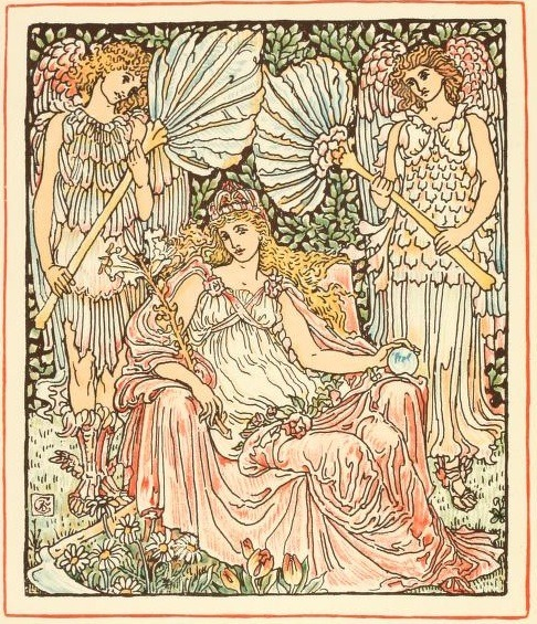 venusmilk:  Queen Summer, or, The tourney of the lily & the rose (1891)Illustrations by Walter Crane