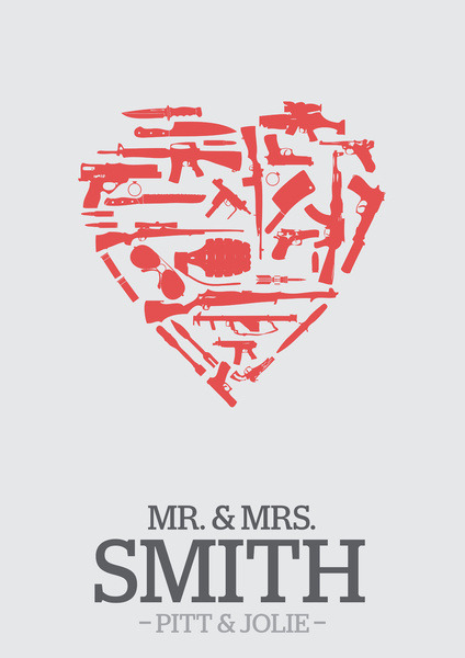 (via Mr. & Mrs. Smith - minimal poster Art Print by Mads Hindhede Svanegaard | Society6)