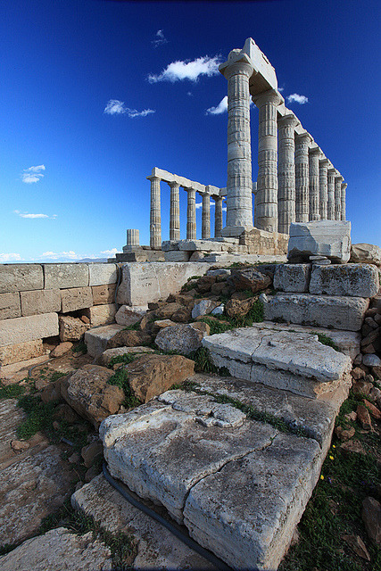 Temple of Poseidon-Sounion by tzil on Flickr.