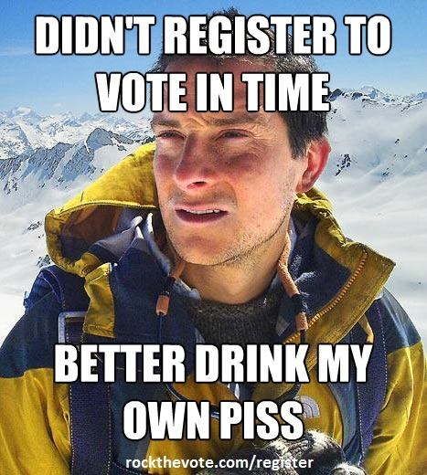 Make sure you're registered to vote. Register today at: http://bit.ly/O4BVF4