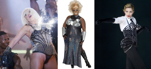 newnownext:  Who Wore It Breast? : Cone Bra Edition Who is the hottest star in a cone bra? Lady Gaga, Latrice Royale, or Madonna