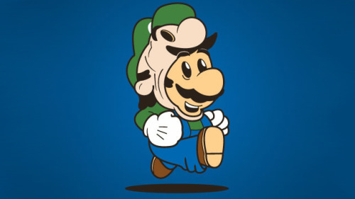 supermariobrothers:  Mario can't accept the fact that Luigi is gone for good
