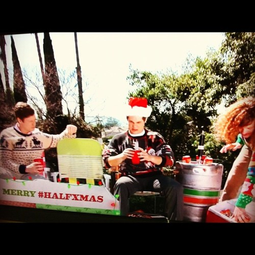 Look for EXCLUSIVE #workaholics messages all day during the #halfxmas marathon on #ComedyCentral! (Taken with Instagram)