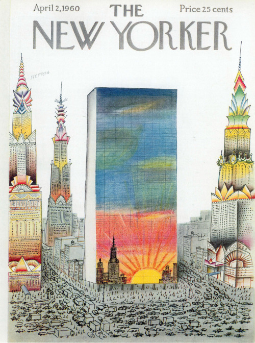 archiveofaffinities:  Saul Steinberg, The New Yorker Cover, April, 2, 1960