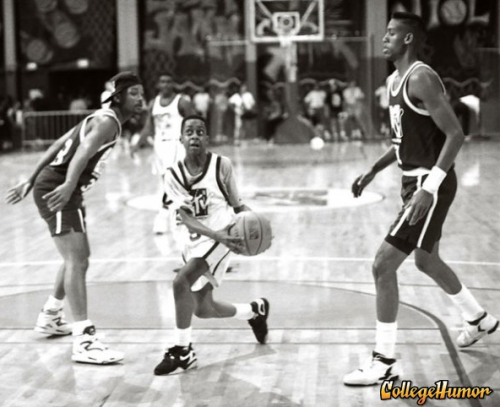 Urkel Schools Will Smith and Reggie Miller in Basketball Did he do that? Probably not.