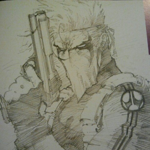 bigblackgeek:  Sketch of #Grifter by #JimLee in Icons. #Wildstorm #Wildcats (Taken with Instagram)  .