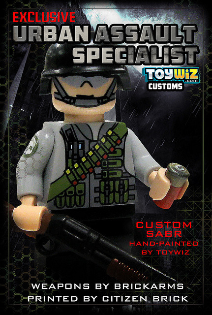 Urban Assault Specialist on Flickr.Great new custom figure now at Brickarsenal.com and ToyWiz.com