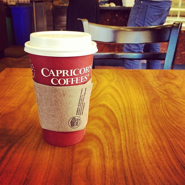 @shawndb needed coffee. (Taken with Instagram at Capricorn Coffees Inc.)