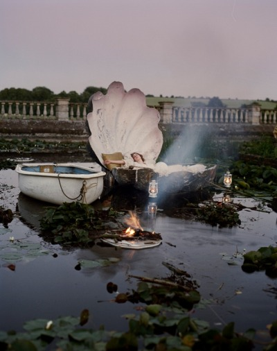Photographed by Tim Walker  I would like a clam shell bed please