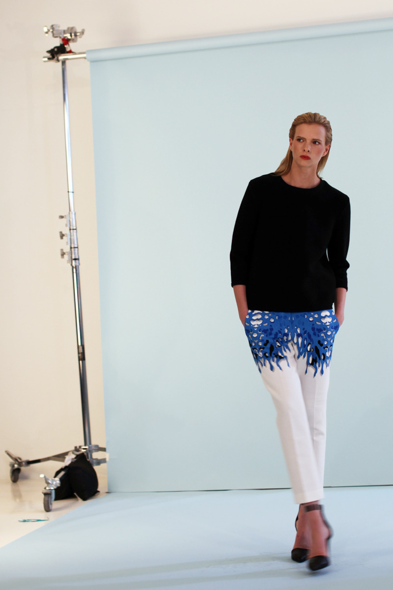 Another behind-the-scenes shot from our Resort 13 photo shoot