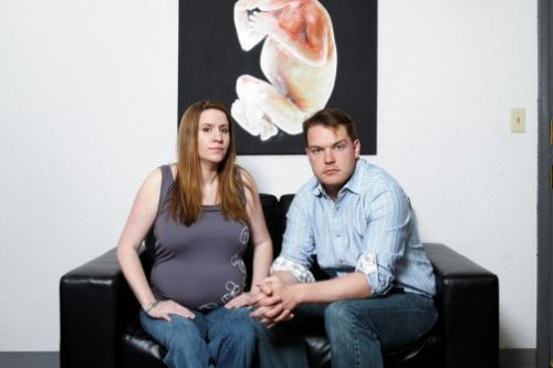 "newsweek:  Personhood USA's Keith and Jennifer Mason, a married couple who happen to be leaders of the ""personhood"" movement to define human embryos as legal people, which would effectively outlaw abortion. Critics charge that personhood could also outlaw some forms of birth control, in-vitro fertilization, and stem-cell research. In a profile we've got in the mag this week, Keith Mason disputes these charges, telling his side of the story. Read it, and let's hear your take w/ a reblog.  It's hard not to appreciate the way Keith Mason is trying to outlaw abortion WITH THE POWER OF HIS EYES."