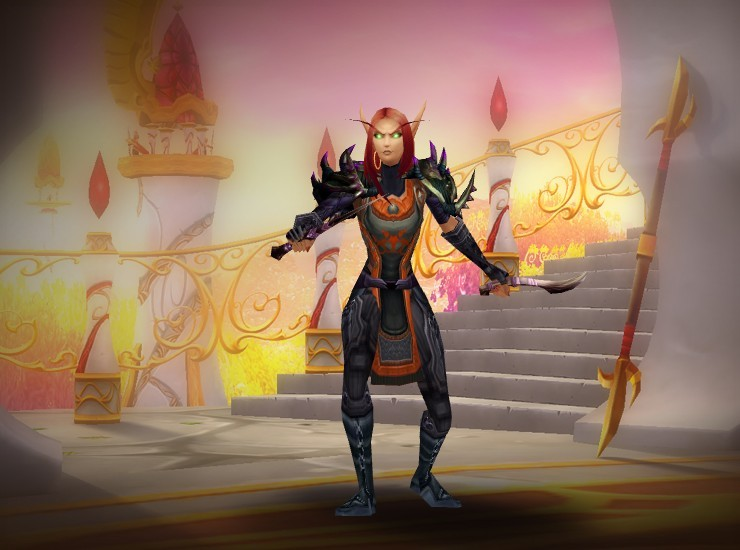 Friendless the Exalted Female Blood Elf Rogue US Zuluhed [Cataclysmic Gladiator's Leather Spaulders] [Winter's Icy Embrace] [Renowned Guild Tabard] [Juicy Bracers] [Handgrips of Assassination] [Girdle of Treachery] [Syreian's Leggings] [Asylum Shoes] [Riftmaker] [Riftmaker]
