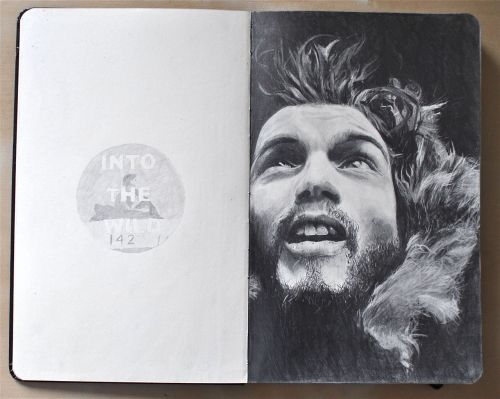 "fuckyeahmoleskines:  ""Happiness only real when shared."" - Christopher McCandless Into the Wild, my favorite film :) My tumblr."