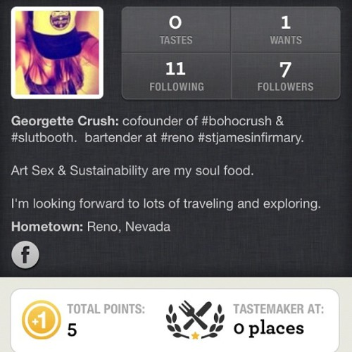 Hey you foodies and drink lovers.  I thought you might like this app. #forkly.  I'm trying it out.  Share and discover food and libations! 🍴🍺🍸☺ (Taken with Instagram)