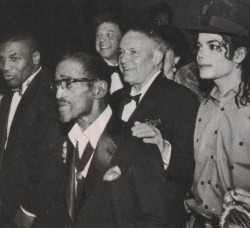 wherethefwereyou:  Mike Tyson x Sammy Davis Jr. x Frank Sinatra x Michael Jackson My entire experience on Tumblr has been leading up to this re-blog. How was I not aware that, at some point in time, these four men were in the same room together?